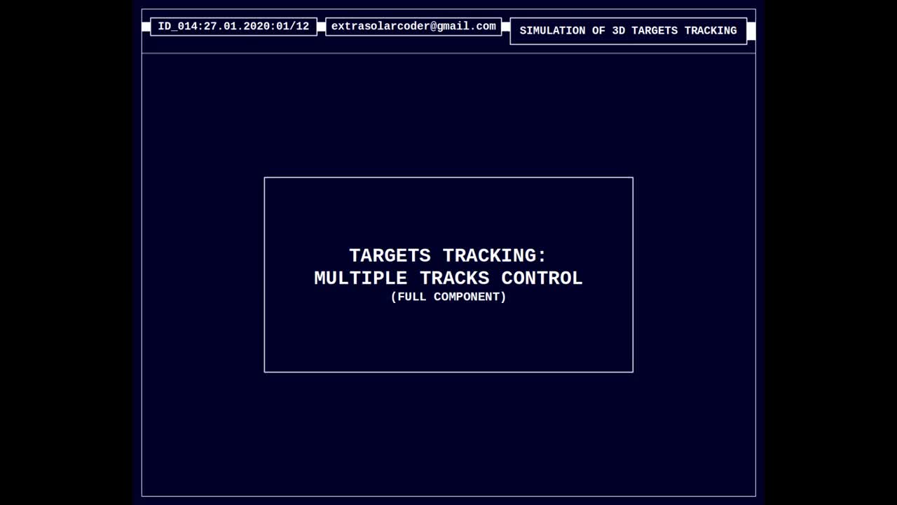 Targets tracking - Multiple Tracks Control
