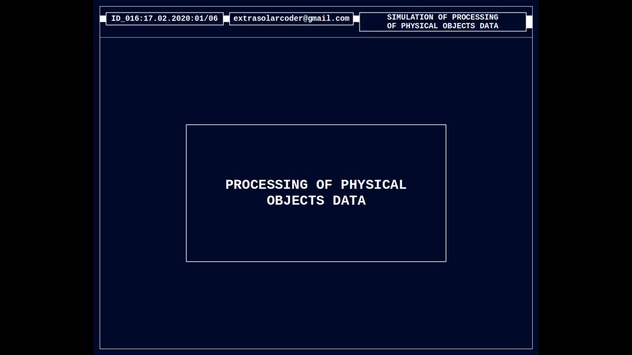Processing Of Physical Objects Data