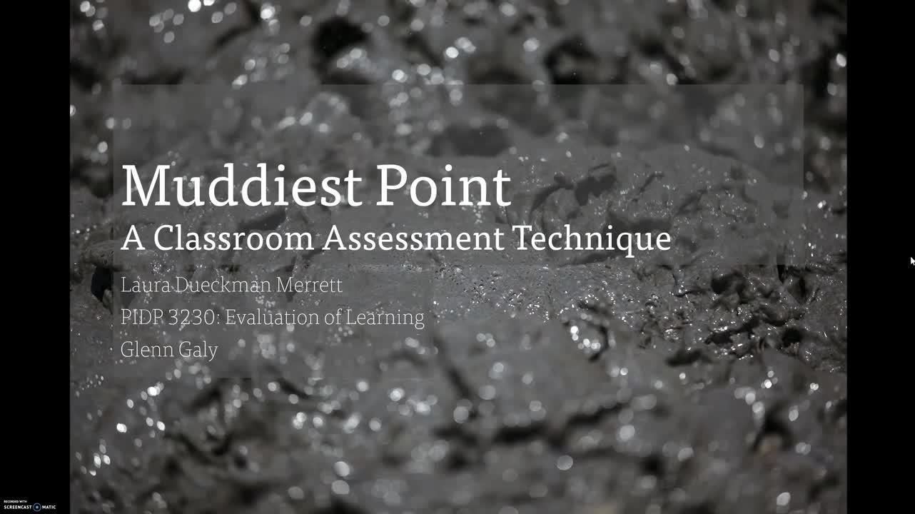 PIDP3230 - Muddiest Point (IAT)