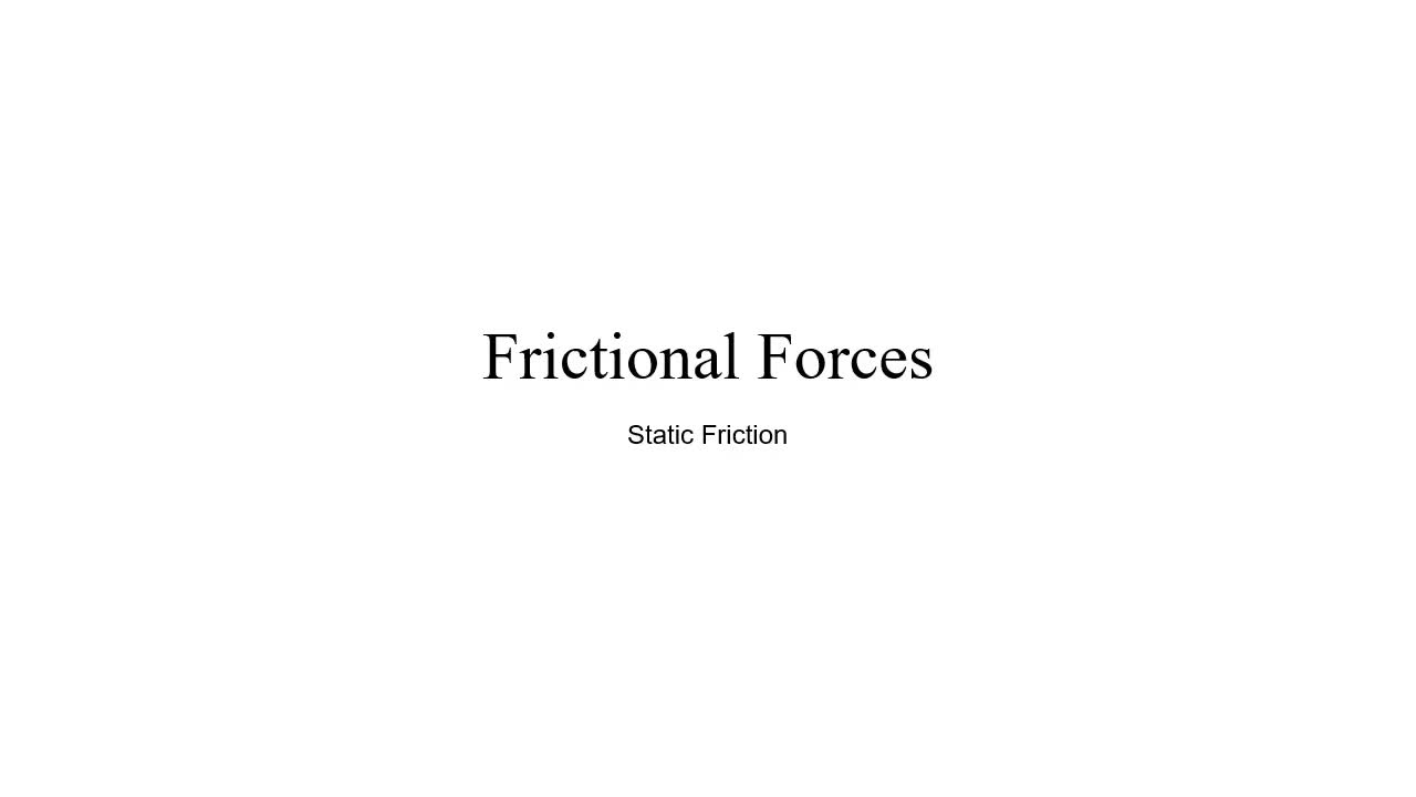 How To Find The Force Required To Move A Box With Static Friction