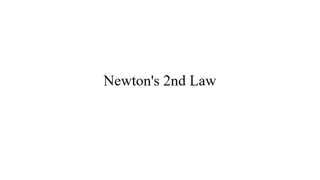 How to Find Acceleration Using Newton's 2nd Law