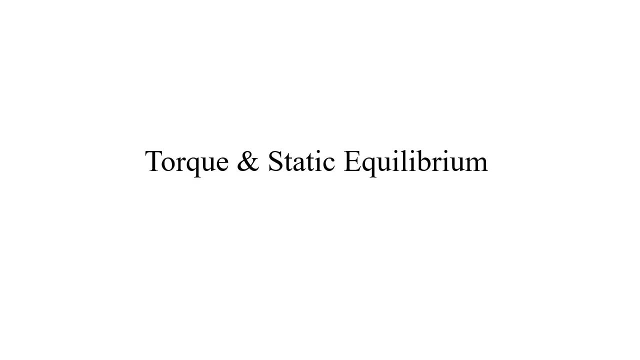 Torque Seesaw Balance Example (Static Equilibrium - Physics)