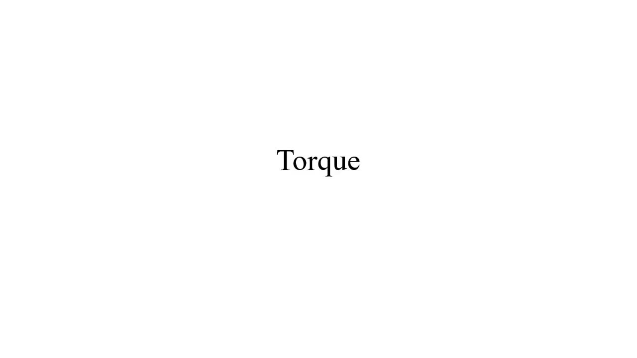 How to Find Torque