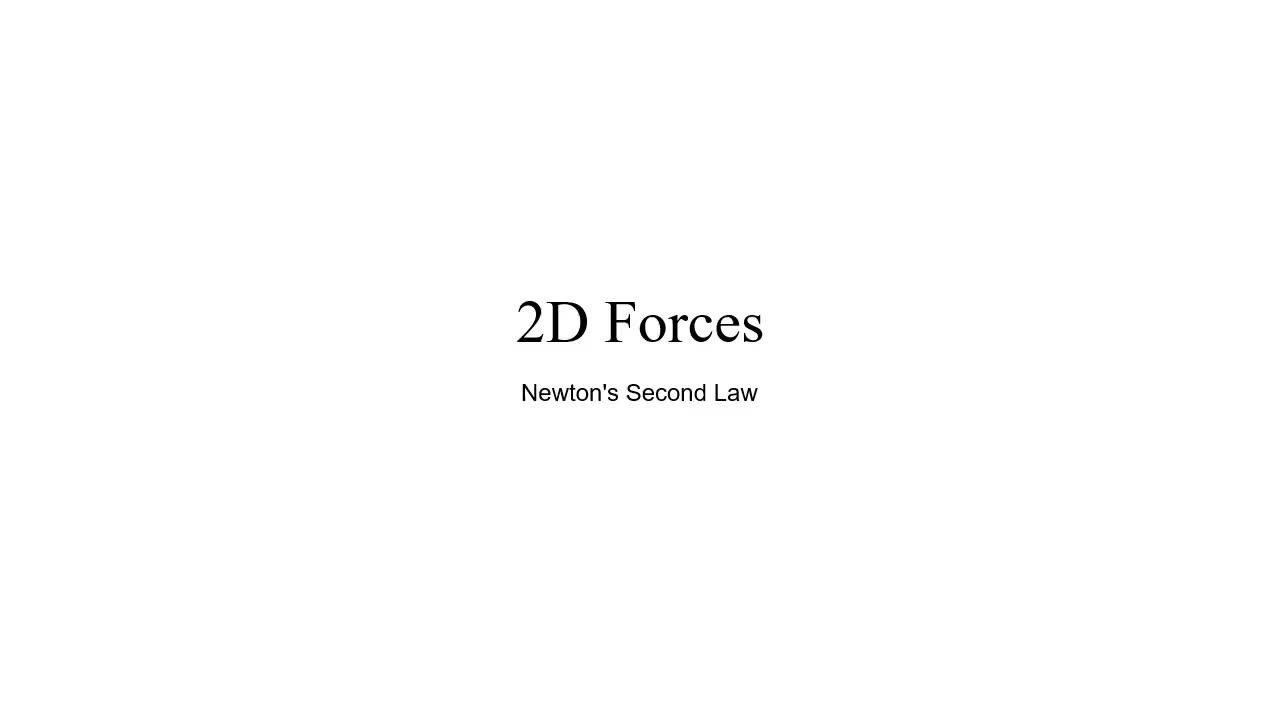 Newton's Second Law 2D Forces Problem