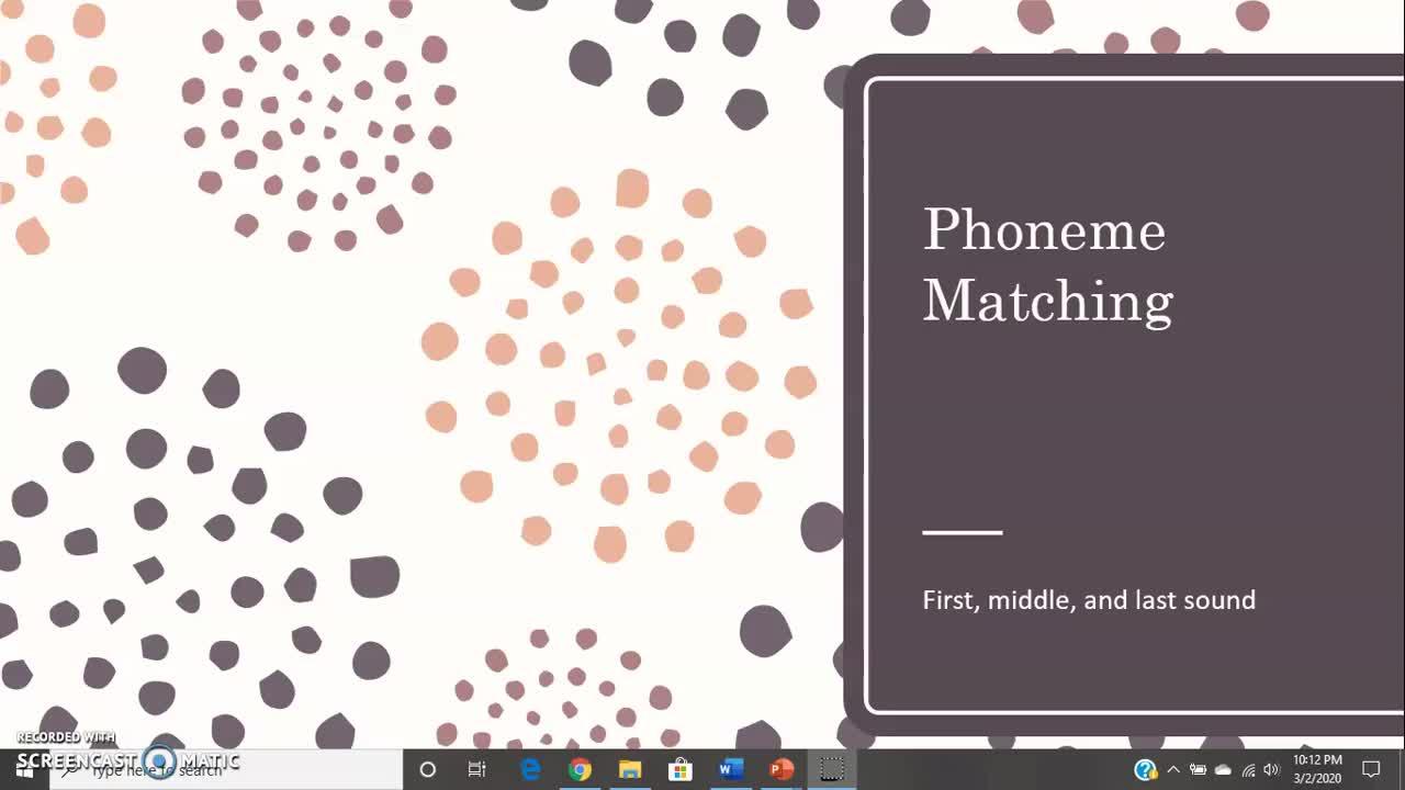 Phoneme Matching