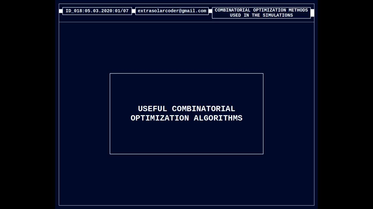 Useful Combinatorial Optimization Algorithms - Part B