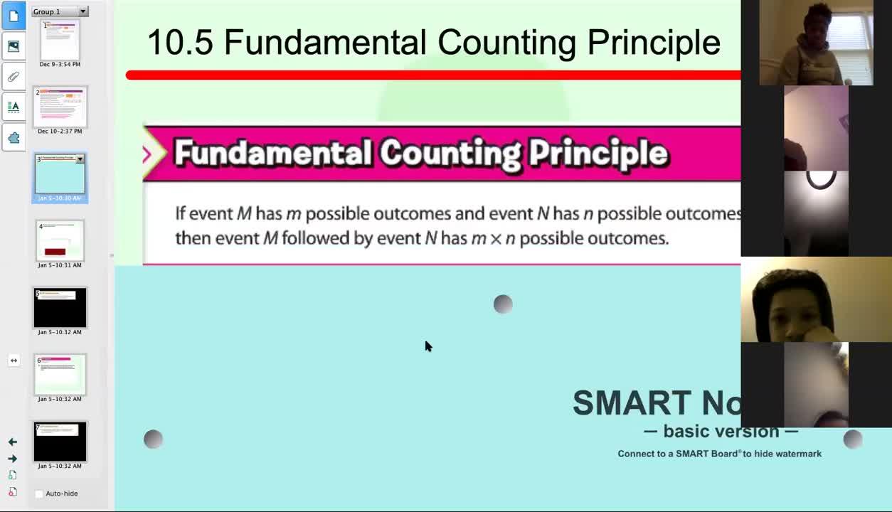10.5 Fundamental Counting Principle