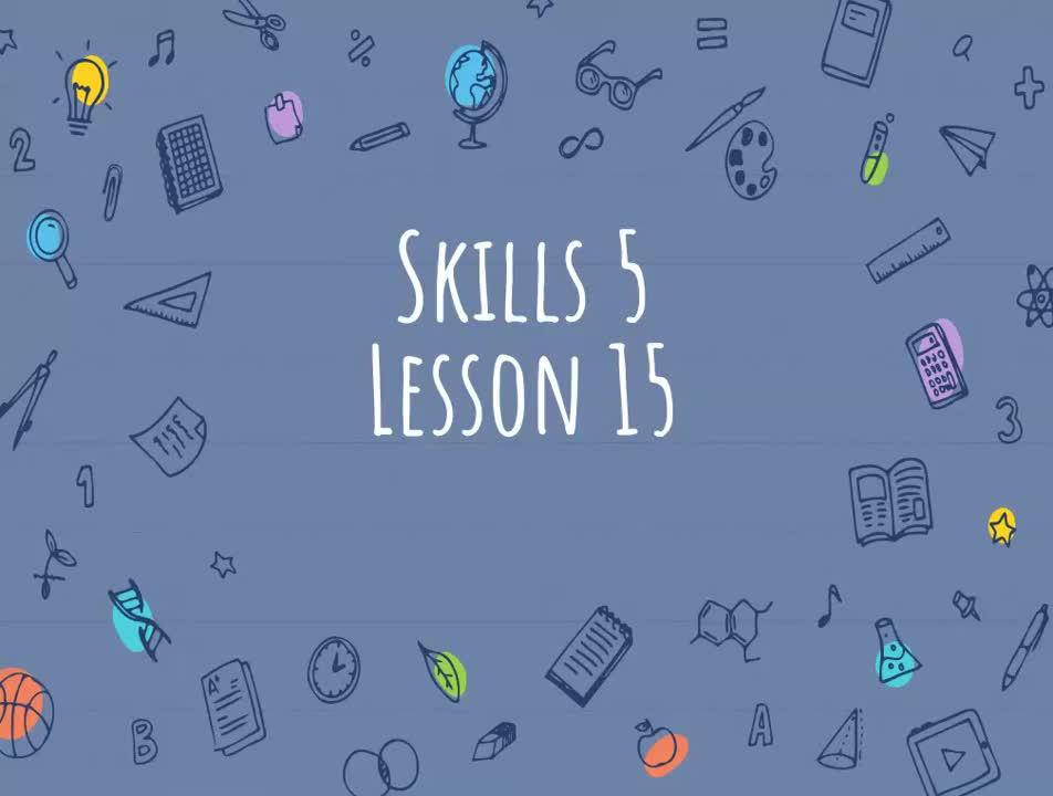 1st Grade CKLA Skills 5 Lesson 15