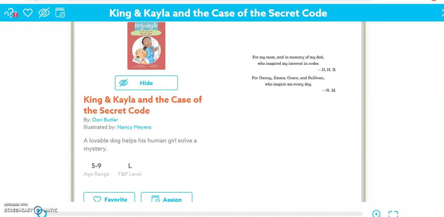 King And Kayla Read Aloud