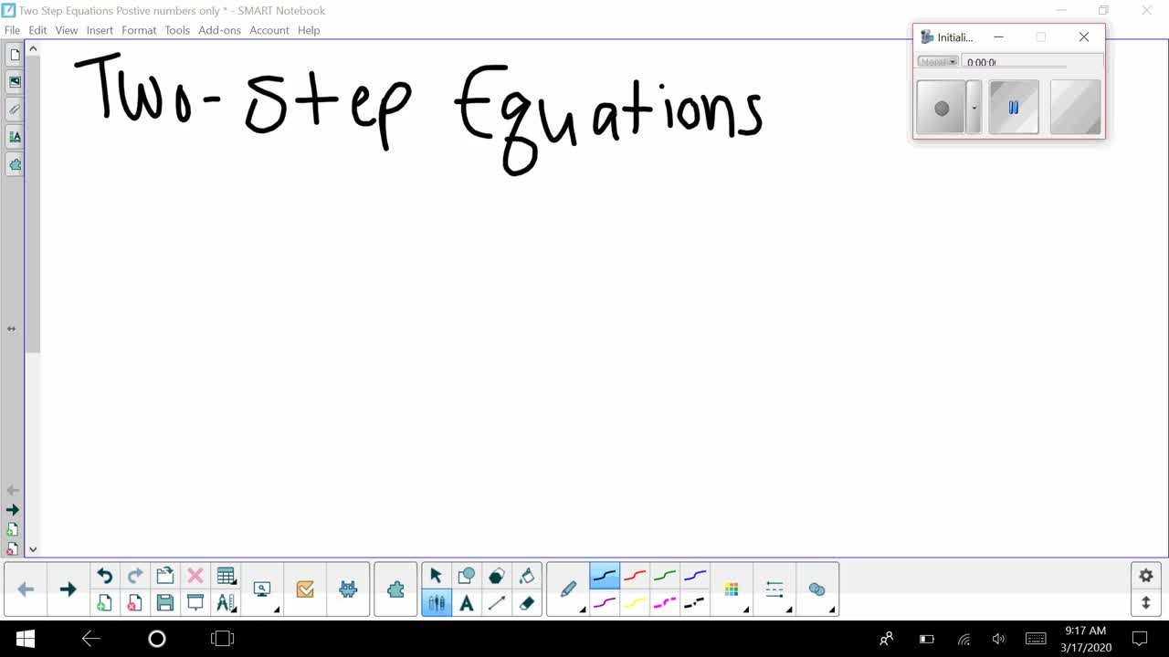 Two Step Equations with Positive Numbers