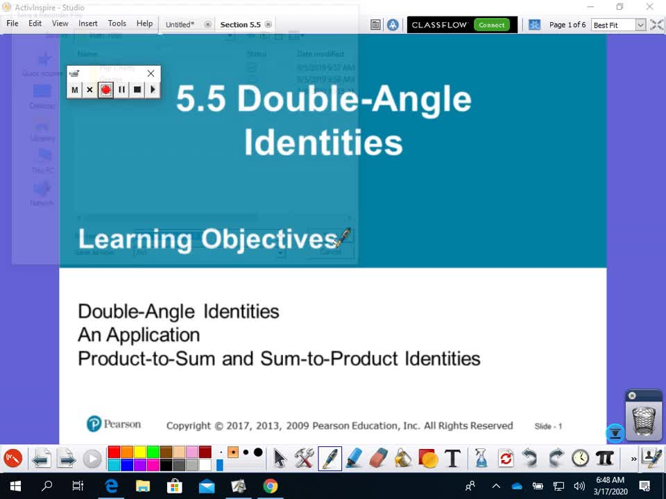 Section 5.5 - Double Angle Identities