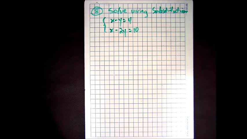 System of Equations (Substitution Method)