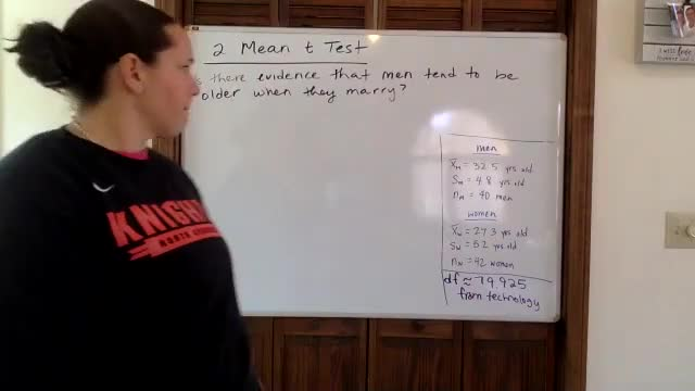 Lesson 2 - 2 Mean Test