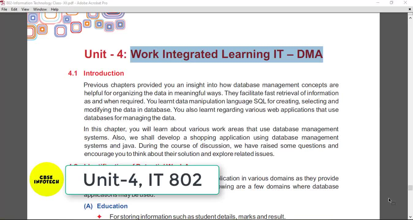 Unit 4 Work Integrated Learning
