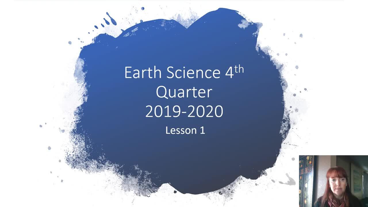Earth Science Quarter 4 Lesson 1