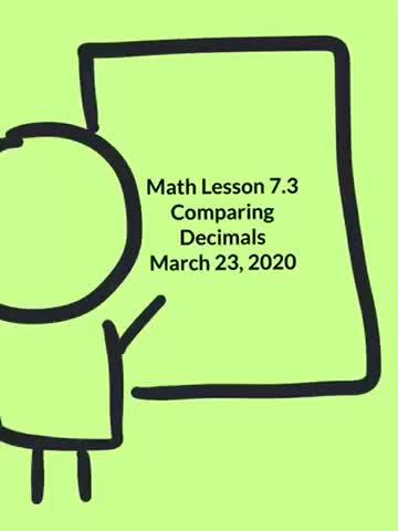 Math 7.3 Day 1 3/23/20