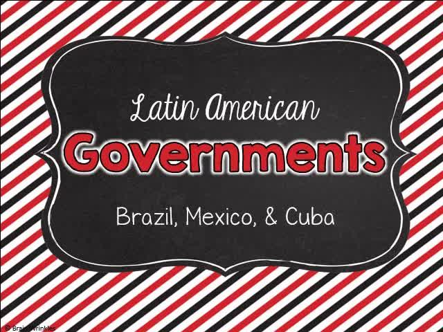 Comparing Latin American Governments