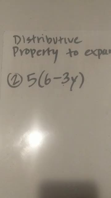 Review Distributive Property