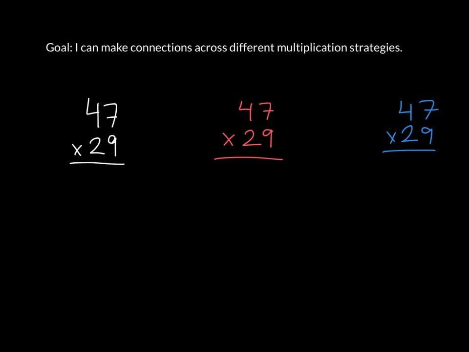 Multiply Using Multiple Strategies