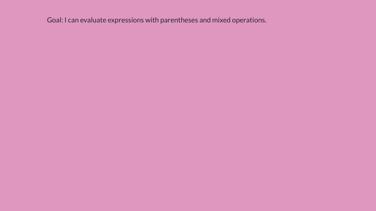 Order of Operations - Evaluate Expressions Using Parentheses