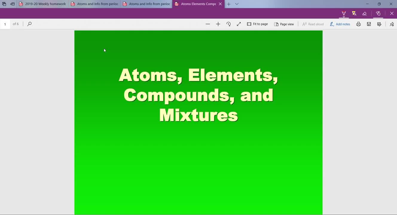 Atom-subatomic Particles