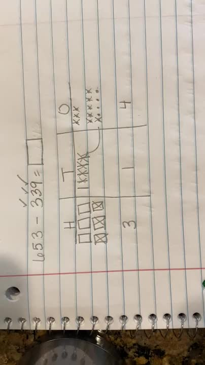 Subtraction With Regrouping Using Expanded Form Video 1