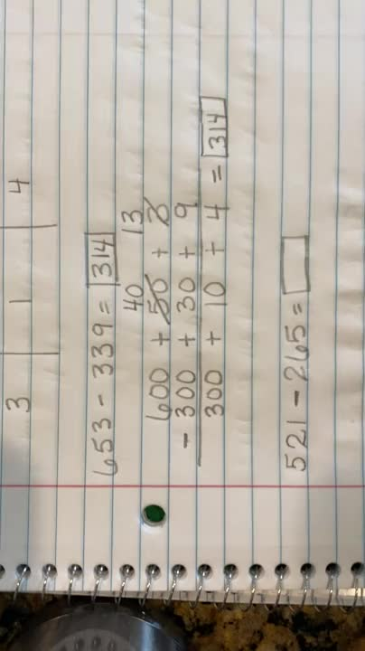 Subtraction With Regrouping Using Expanded Form Video 2