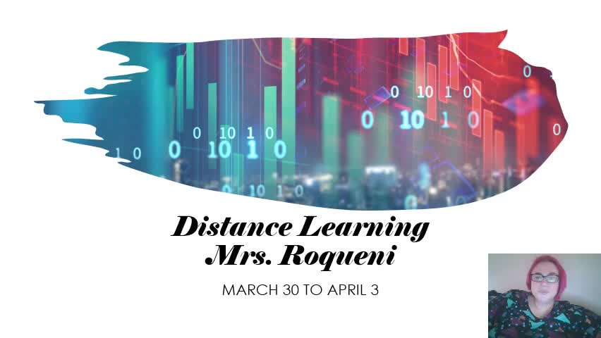 Distance Learning March 30-April 3