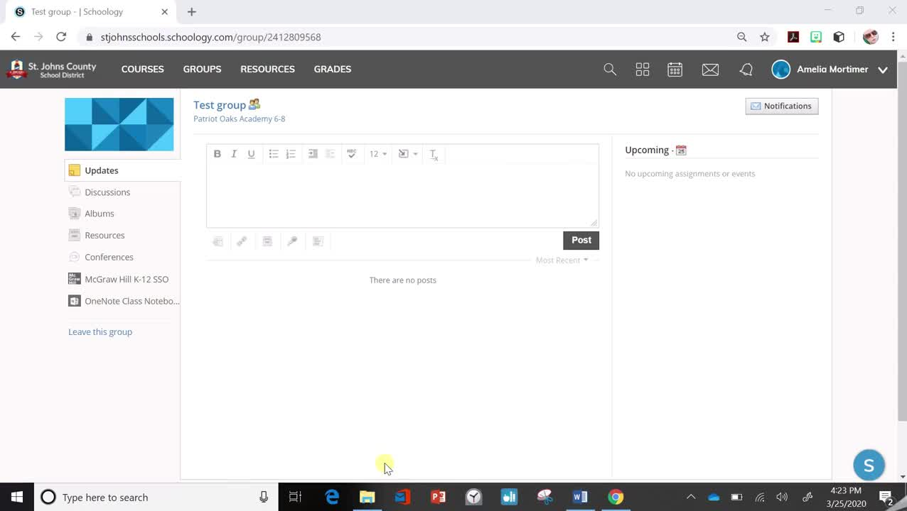 Kid Friendly Schoology- Conferencing With Your Teacher