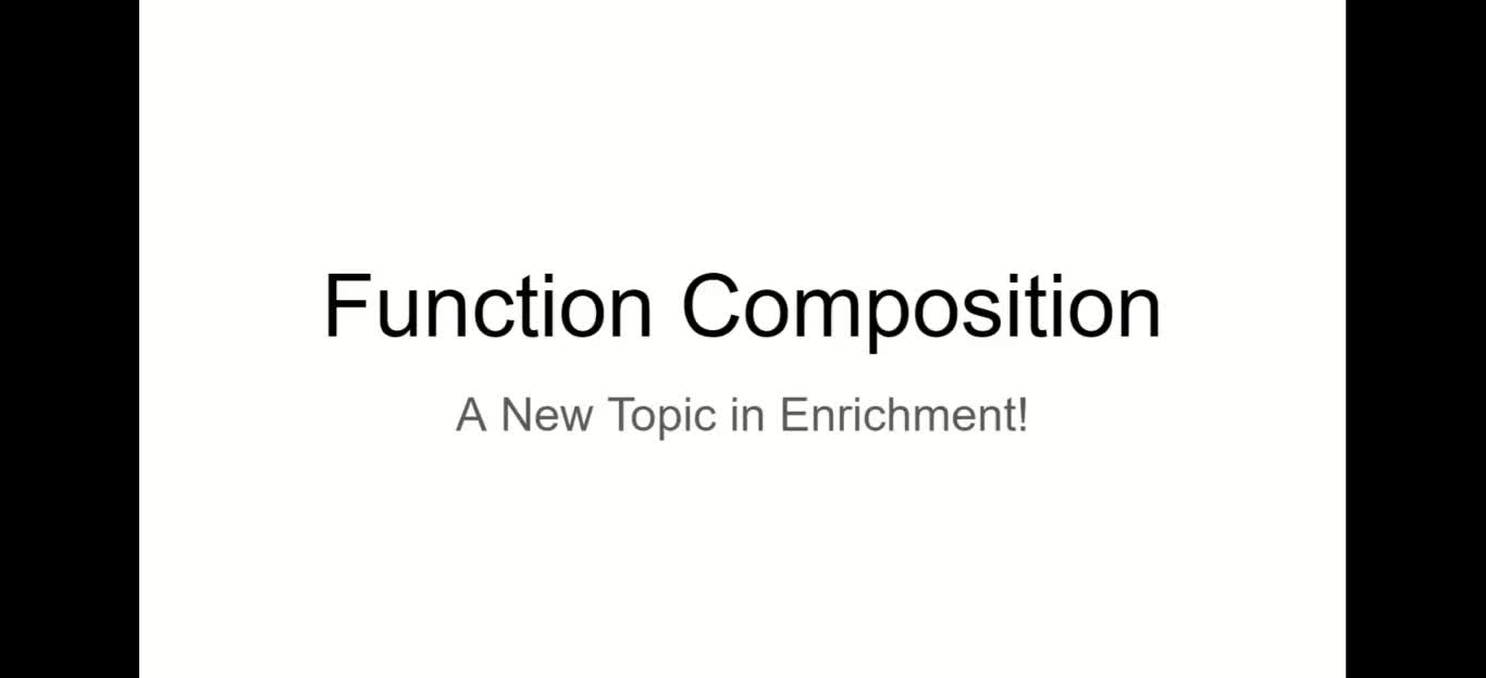 Function Composition Try 2 Part 1