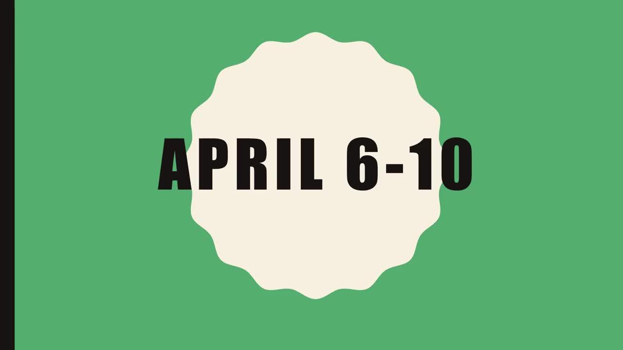 Lesson 1 ELA April 6-10
