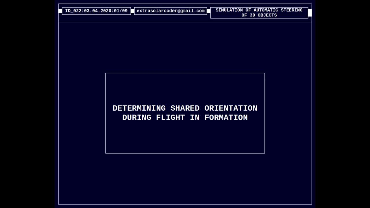 Determining Shared Orientation During Flight in Formation