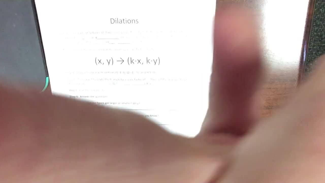Dilations - Pre-Algebra