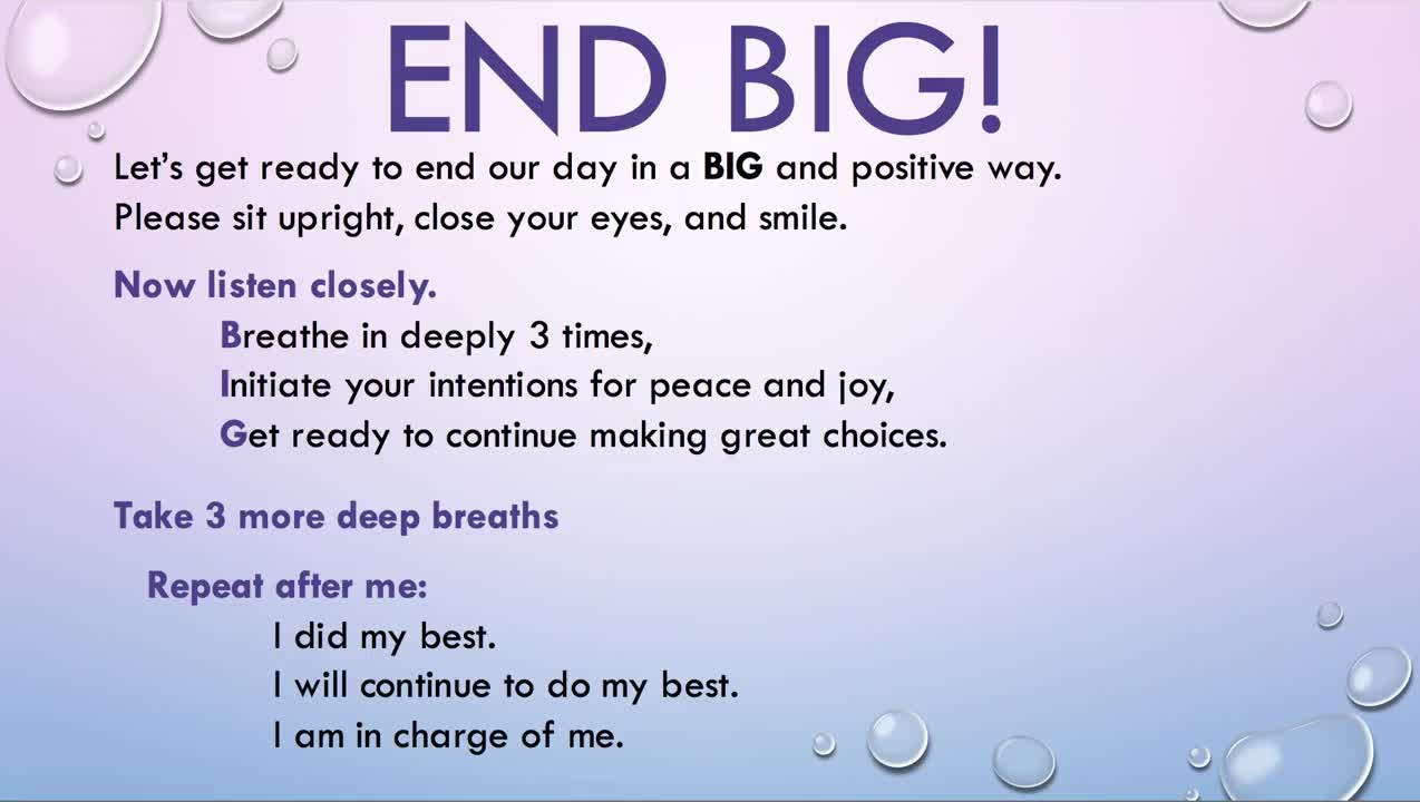 END BIG