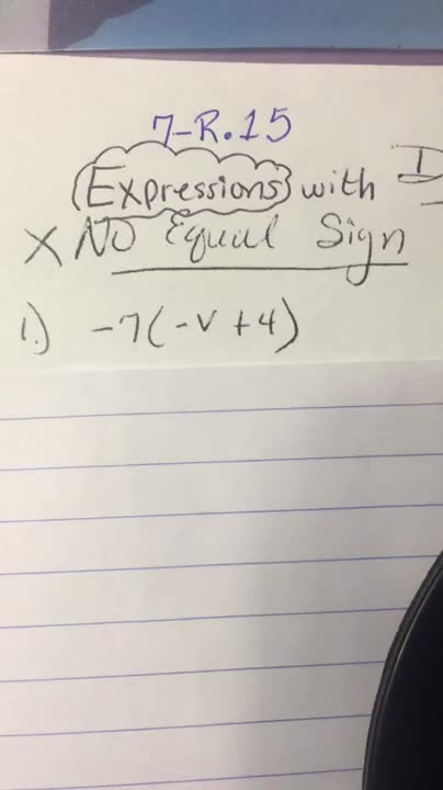 Expression v/s EQUAtion-Video1of24