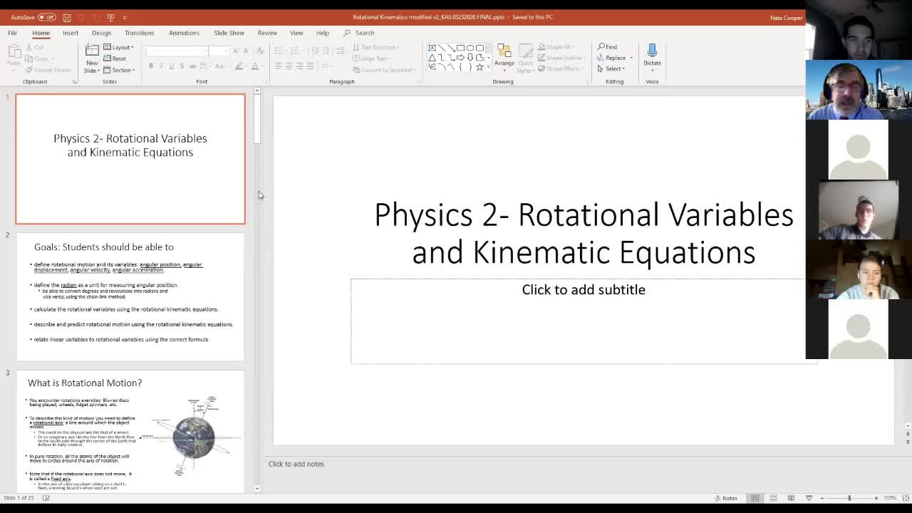 Physics 2 Lecture 1: Rotational Variables
