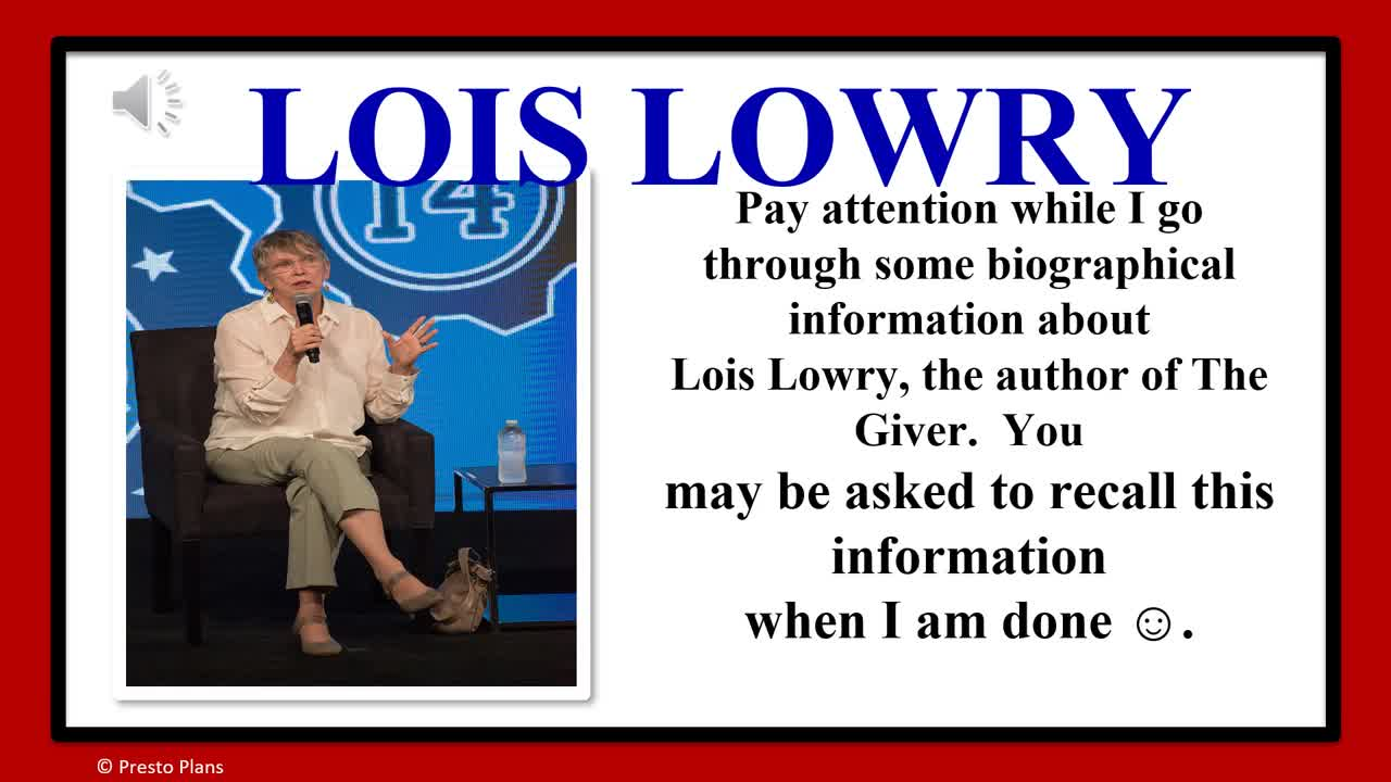 Lois Lowry Author Bio
