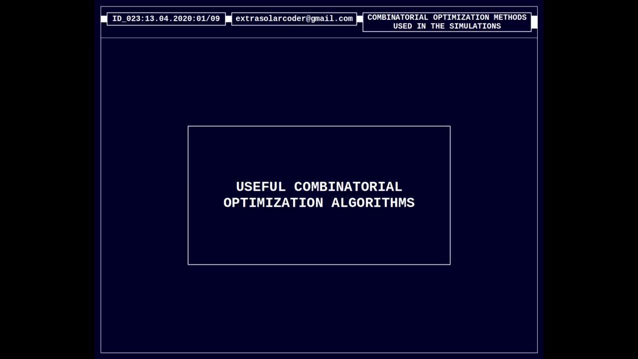 Useful Combinatorial Optimization Algorithms - Part D
