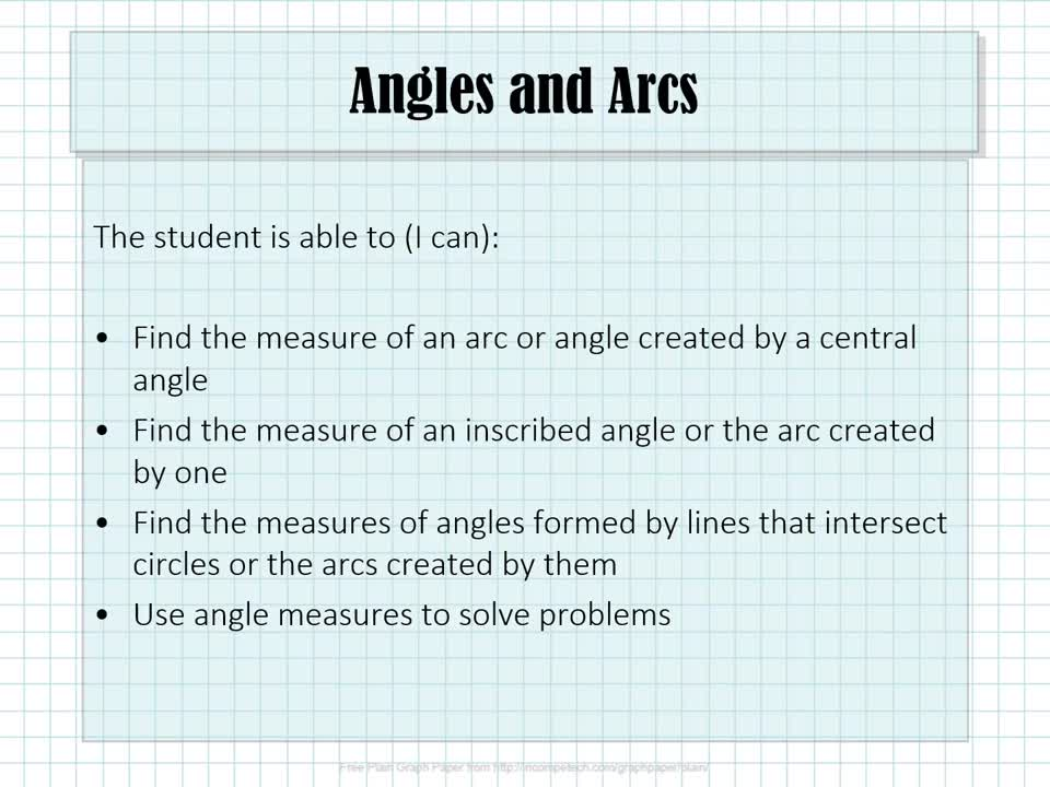 10.2 Angles and Arc (with Narration)
