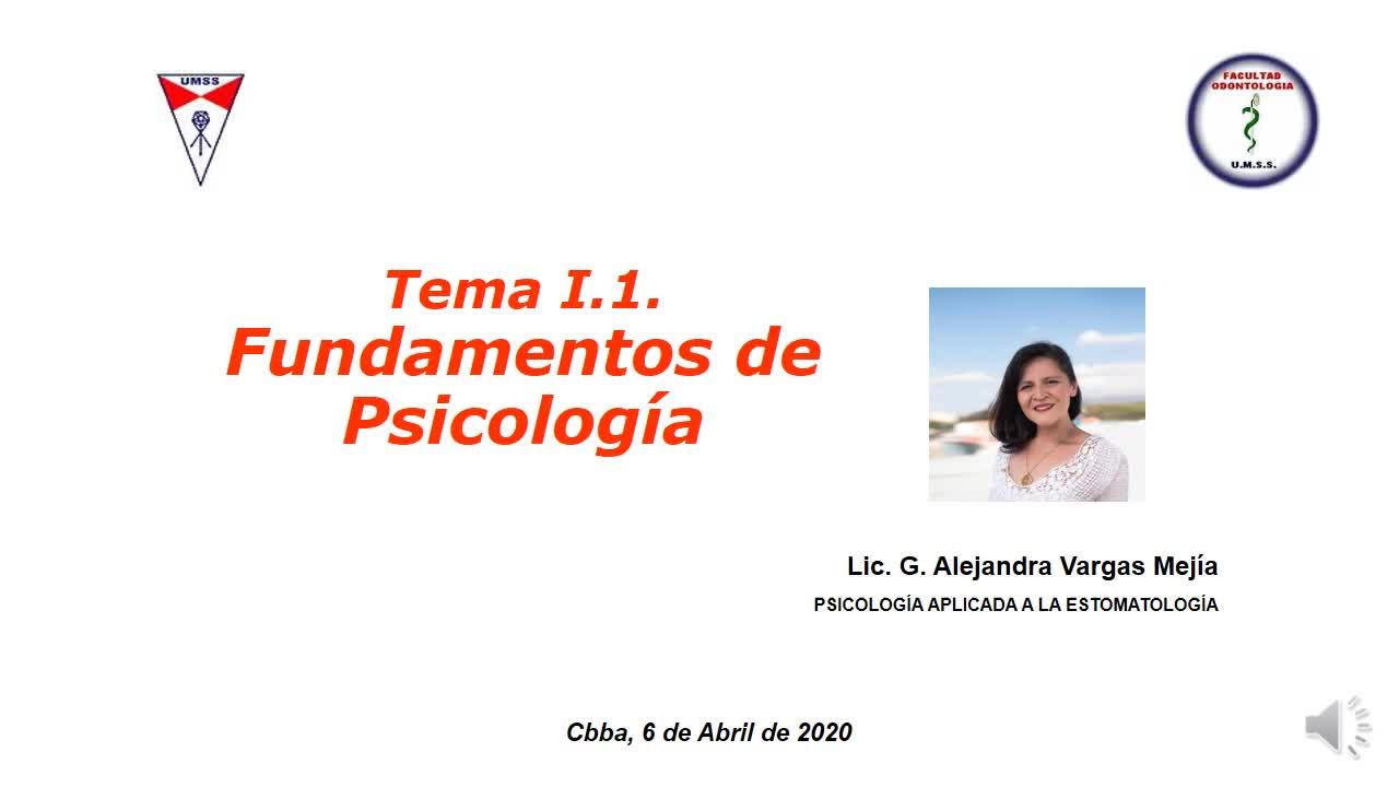 Tema I.1. Fundamentos de Psicologia