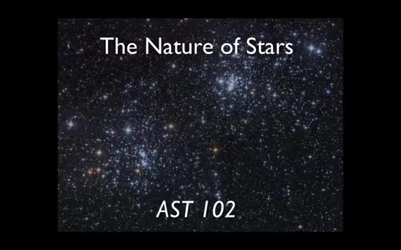 Lecture 14 - The Nature of Stars