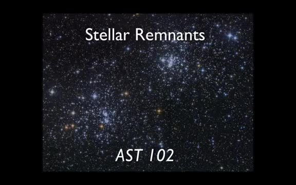 Lecture 16 - Stellar End States
