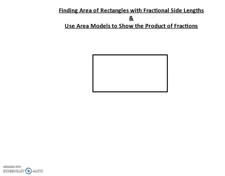 Area of Rectangles with Fractional Side Lengths