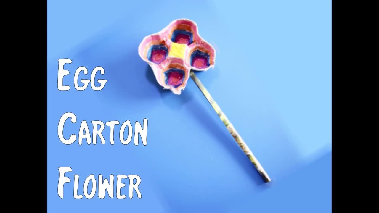 Egg Carton Flower