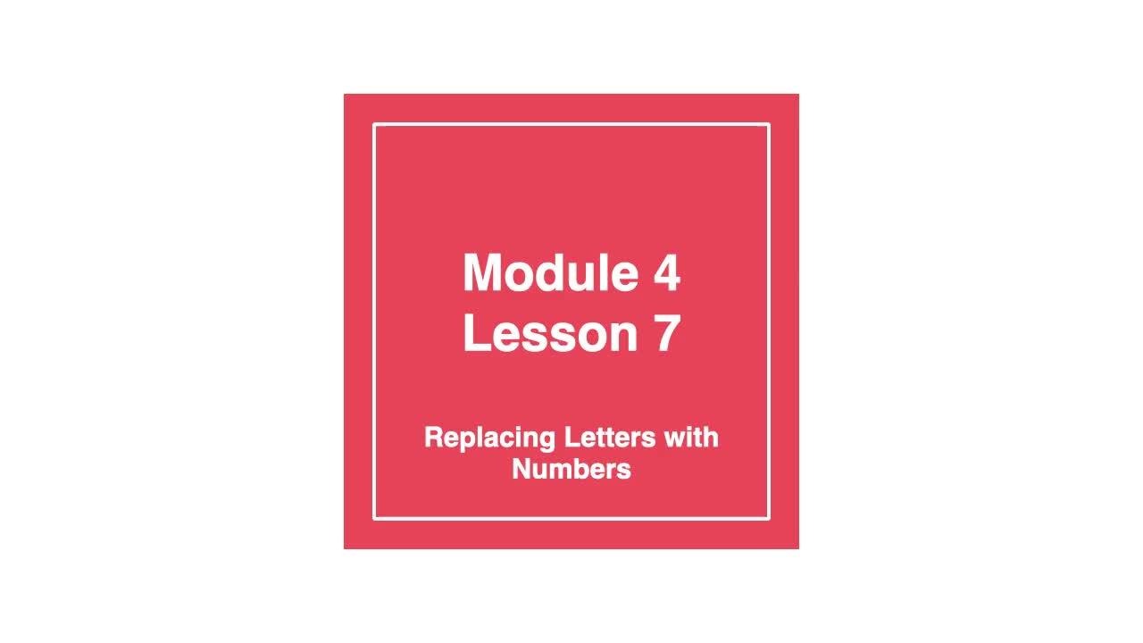 Module 4 Lesson 7