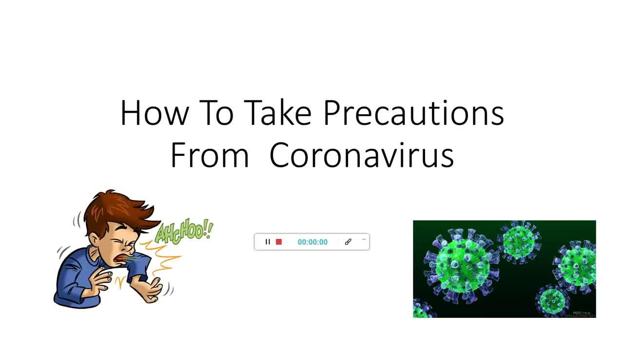 How to Take Precautions From Coronavirus