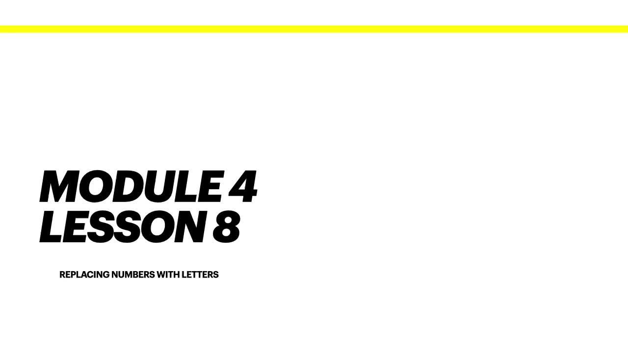 Module 4 Lesson 8