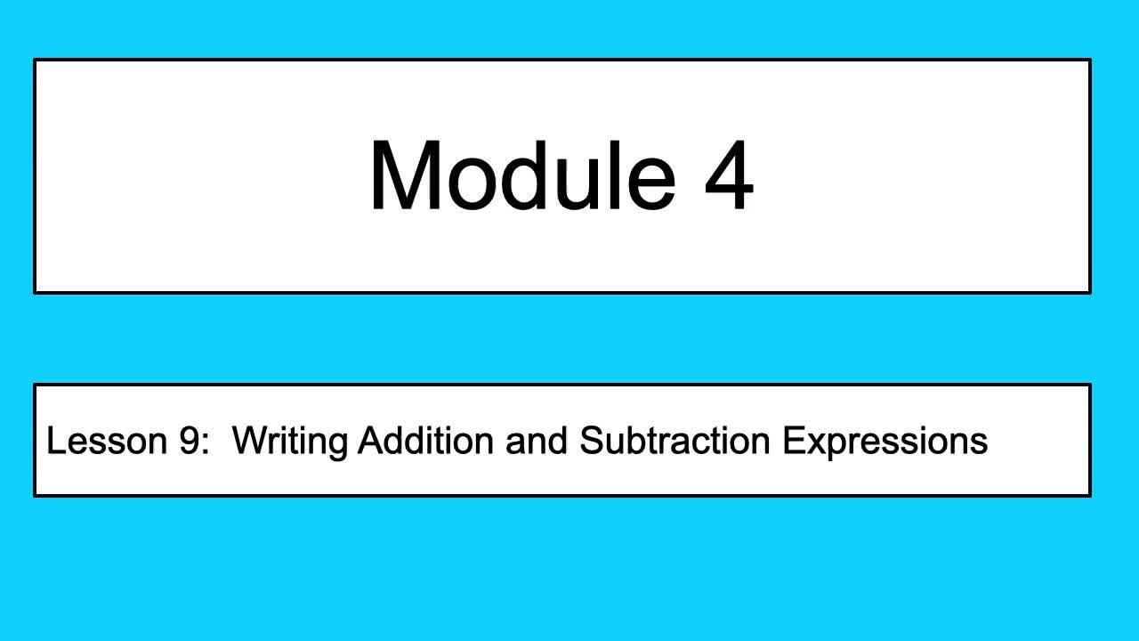 Module 4 Lesson 9