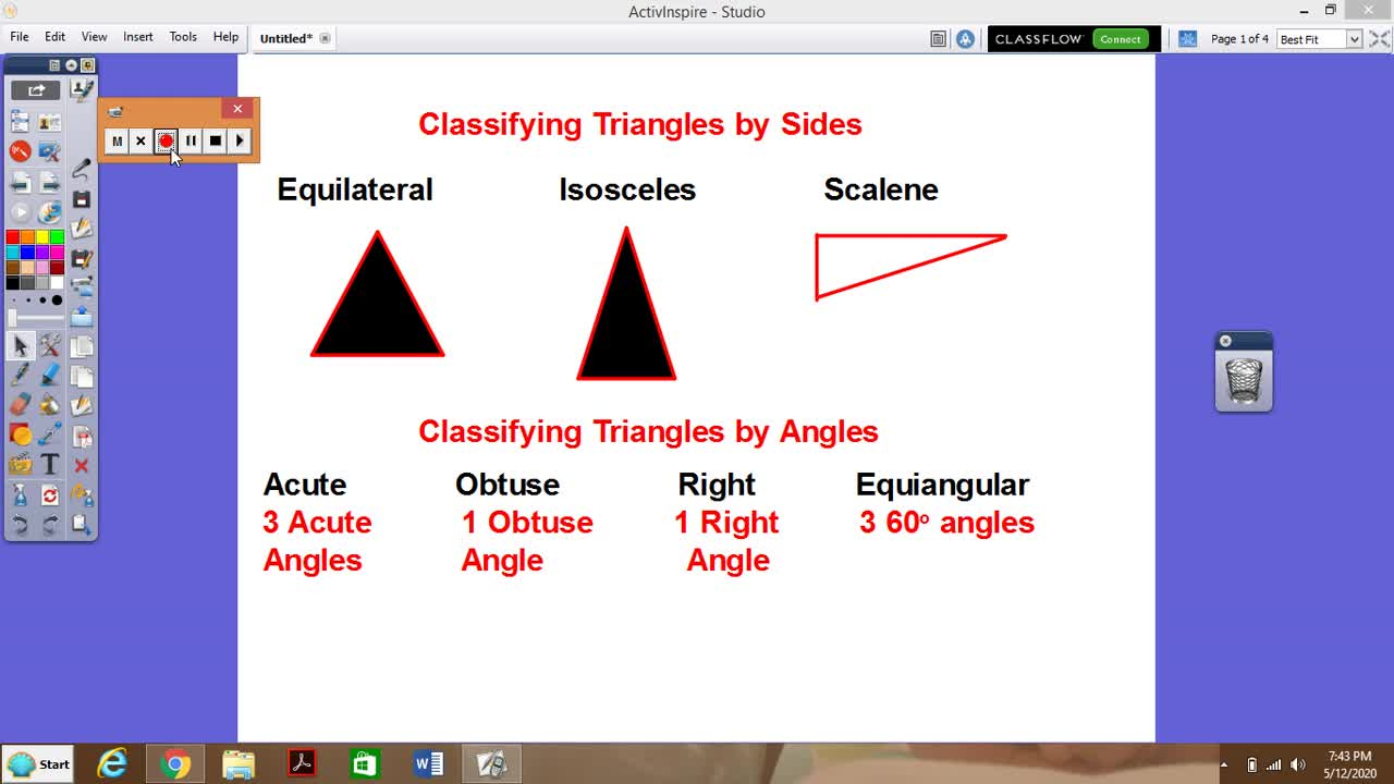 Exterior Angle in a Triangle Theorem