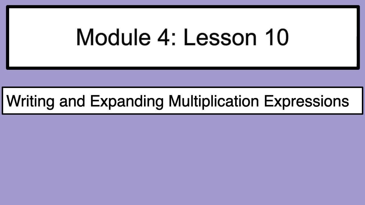 Module 4 Lesson 10